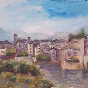 girona spain painting